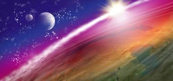 beeld van aarde in ruimte Royalty-vrije Stock Foto's