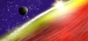 beeld van aarde in ruimte Stock Afbeeldingen