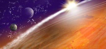 beeld van aarde in ruimte Stock Fotografie