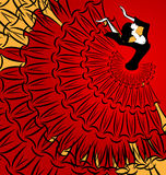 Beeld van abstracte danser Royalty-vrije Stock Foto