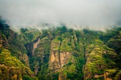 Beeld van Berglandschap in Morelos-rand in Mexico Stock Afbeeldingen