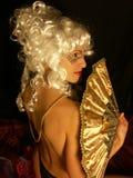 Beeld van blond Stock Foto