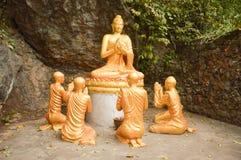 Beeld van Boedha in louangprabang Royalty-vrije Stock Foto's