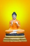 Beeld van Boedha op achtergrond stock foto's
