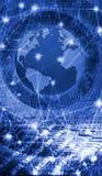 beeld van bol op technologische achtergrond Stock Afbeelding