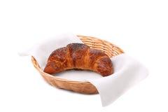 Beeld van croissant met papaver in een mand. Royalty-vrije Stock Foto