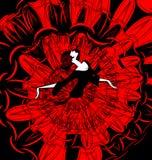 Beeld van danser in rood-zwarte Stock Afbeeldingen