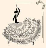 Beeld van dansersflamenco Royalty-vrije Stock Fotografie