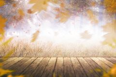 Beeld van de herfstlandschap Stock Afbeeldingen