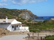 Beeld van de Kust van het eiland van Baeutiful Menorca in Spanje Een natuurlijk paradijs stock foto