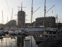 Beeld van de Mercator-jachthaven in Oostende stock foto