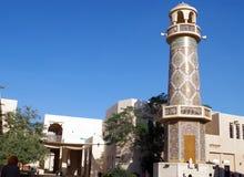 Beeld van de minaret van Moskee één van Katara Masjid van mooiste Masjids in Qatar royalty-vrije stock afbeelding