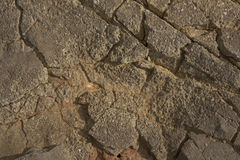 Beeld van de muur van de rotstextuur achtergrondclose-up Royalty-vrije Stock Foto