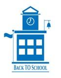 Beeld van de schoolbouw Stock Foto