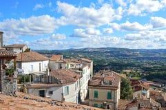 Beeld van de stad van Morcone, een stad in het Campania-gebied royalty-vrije stock afbeeldingen