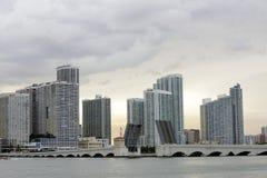 Beeld van de Venetiaanse Verhoogde weg Miami stock afbeeldingen