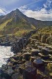 Beeld van de Verhoogde weg van de Reus in Noord-Ierland. Royalty-vrije Stock Foto