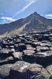 Beeld van de Verhoogde weg van de Reus in Noord-Ierland. Royalty-vrije Stock Afbeelding