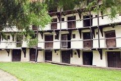 Beeld van deuren en hellingen van de buitenmuren van Prejmer-fort Royalty-vrije Stock Afbeeldingen