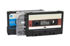Drie compacte cassettebanden Royalty-vrije Stock Fotografie