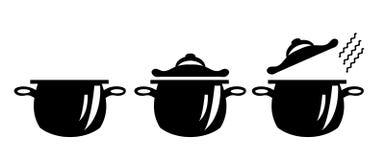Beeld van drie potten Stock Afbeeldingen