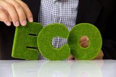 Het alfabet van Eco Stock Foto's