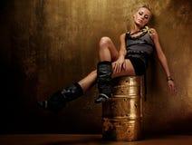 Beeld van een aantrekkelijk stoom punkmeisje. royalty-vrije stock foto's
