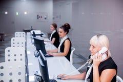 Beeld van een call centre Royalty-vrije Stock Afbeeldingen