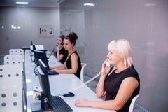 Beeld van een call centre Royalty-vrije Stock Foto's