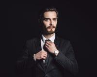 Beeld van een elegante jonge mens Stock Foto's