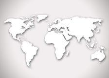 Beeld van een gestileerde wereldkaart stock afbeeldingen