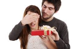 Beeld van een jong paar, het concept van de valentijnskaartdag Royalty-vrije Stock Foto