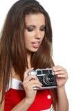 Beeld van een jonge en mooie vrouwenwi Stock Foto's