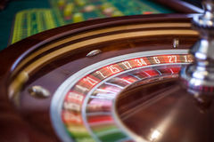 Beeld van een klassiek wiel van de casinoroulette Stock Afbeelding