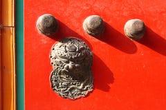 Het hoofd van de leeuw van het metaal, Verboden Stad, Peking, China Stock Afbeelding
