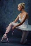 Beeld van een mooie balletdanser. royalty-vrije stock afbeelding