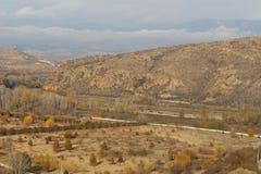 Beeld van een mooie plaats in de lage bergketens van Bulgarije - van Rupite Royalty-vrije Stock Fotografie
