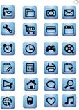Beeld van een slimme telefoon en een tablet apps Stock Afbeeldingen