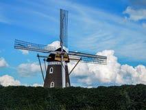 Beeld van een traditionele windmolen Stock Afbeelding