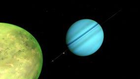 Beeld van fantastische planeet Stock Afbeelding