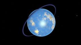 Beeld van fantastische planeet Stock Foto's