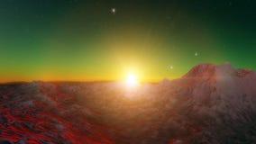 Beeld van fantastische planeet Royalty-vrije Stock Afbeelding