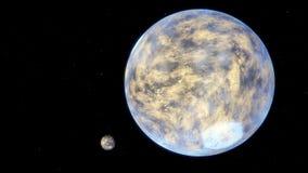 Beeld van fantastische planeet Stock Afbeeldingen