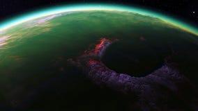 Beeld van fantastische planeet Stock Fotografie