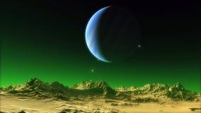 Beeld van fantastische planeet Royalty-vrije Stock Foto's