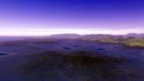 Beeld van fantastische planeet Royalty-vrije Stock Afbeeldingen