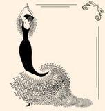 Beeld van flamenco Stock Afbeelding