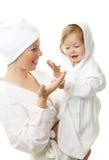 Beeld van gelukkige moeder met baby Royalty-vrije Stock Afbeelding
