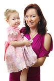 Beeld van gelukkige moeder met baby royalty-vrije stock fotografie