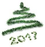 Beeld van gestileerde Kerstboom Stock Foto's